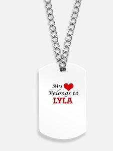 My heart belongs to Lyla Dog Tags