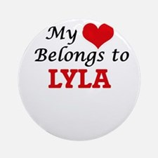 My heart belongs to Lyla Round Ornament