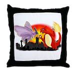 Venomothra Vs Charzilla Throw Pillow
