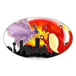 Venomothra Vs Charzilla Sticker