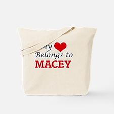 My heart belongs to Macey Tote Bag