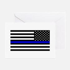 Police: Black Flag & The Thin Blue Line Greeting C