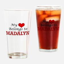 My heart belongs to Madalyn Drinking Glass