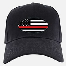 Firefighter: Black Flag & Red Line Baseball Hat