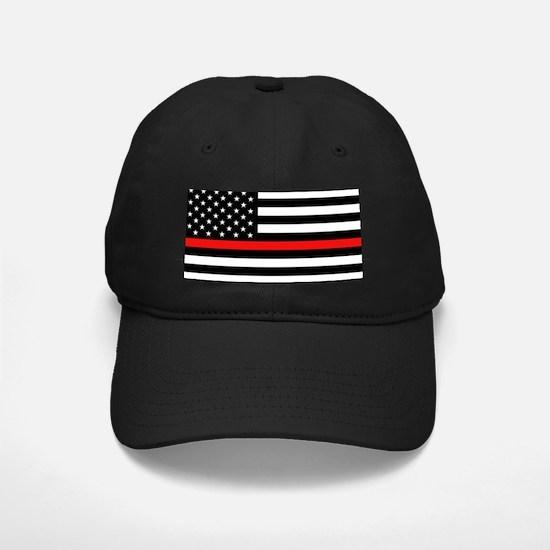 Firefighter: Black Flag & Red Line Baseball Hat