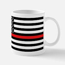 Firefighter: Black Flag & Red Line Mug
