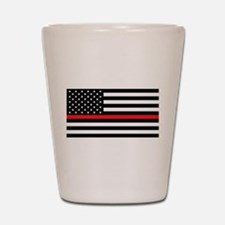 Firefighter: Black Flag & Red Line Shot Glass