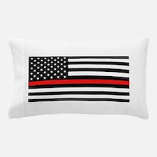 Firefighter: Black Flag & Red Line Pillow Case