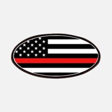 Firefighter: Black Flag & Red Line Patch