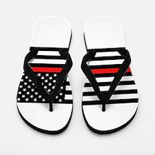 Firefighter: Reverse Black Flag & Red L Flip Flops