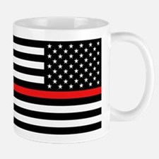 Firefighter: Reverse Black Flag & Red L Mug