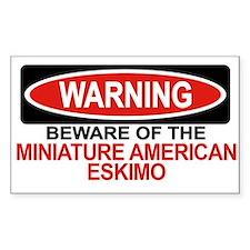 MINIATURE AMERICAN ESKIMO Rectangle Decal