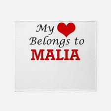 My heart belongs to Malia Throw Blanket
