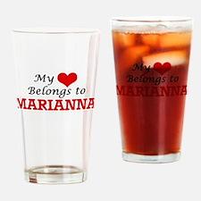 My heart belongs to Marianna Drinking Glass