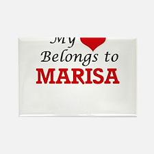 My heart belongs to Marisa Magnets