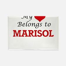 My heart belongs to Marisol Magnets