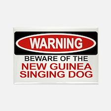 NEW GUINEA SINGING DOG Rectangle Magnet