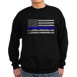 Thin blue line Sweatshirt (dark)