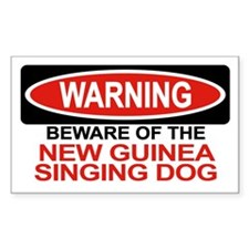 NEW GUINEA SINGING DOG Rectangle Decal