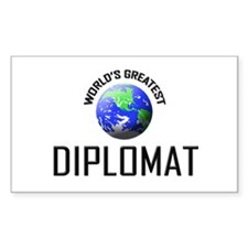 World's Greatest DIPLOMAT Rectangle Decal