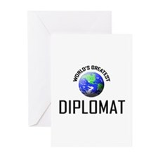 World's Greatest DIPLOMAT Greeting Cards (Pk of 10