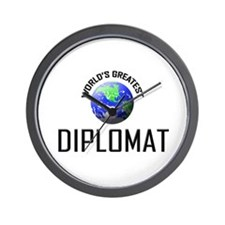 World's Greatest DIPLOMAT Wall Clock