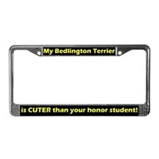 Hnr Student Bedlington Terrier License Plate Frame