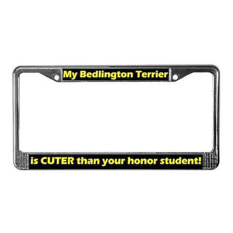 Hnr Student Bedlington Terrier License Plate Frame