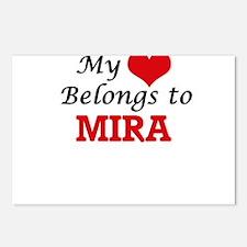 My heart belongs to Mira Postcards (Package of 8)