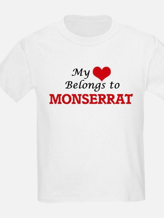 My heart belongs to Monserrat T-Shirt