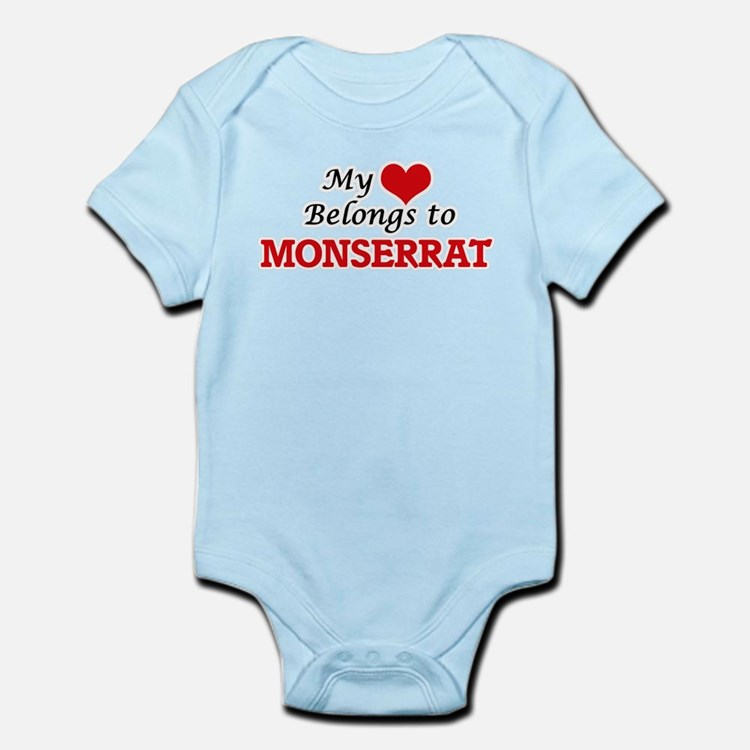 My heart belongs to Monserrat Body Suit