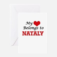 My heart belongs to Nataly Greeting Cards