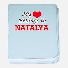 My heart belongs to Natalya baby blanket