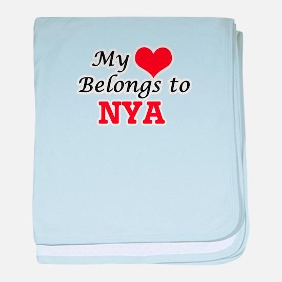 My heart belongs to Nya baby blanket