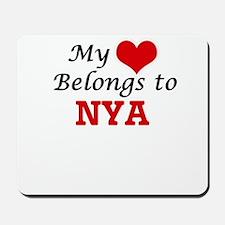 My heart belongs to Nya Mousepad