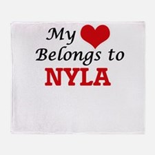 My heart belongs to Nyla Throw Blanket