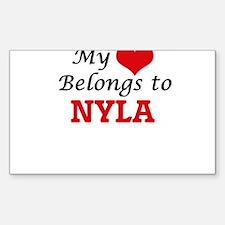 My heart belongs to Nyla Decal