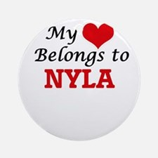 My heart belongs to Nyla Round Ornament