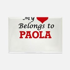 My heart belongs to Paola Magnets