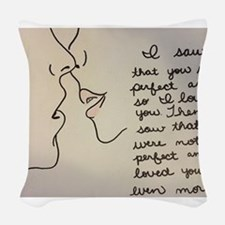 Sweet Kiss Woven Throw Pillow
