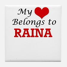My heart belongs to Raina Tile Coaster