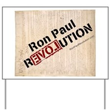 "Ron Paul Constituion sideways 14"" hi imag YardSign"