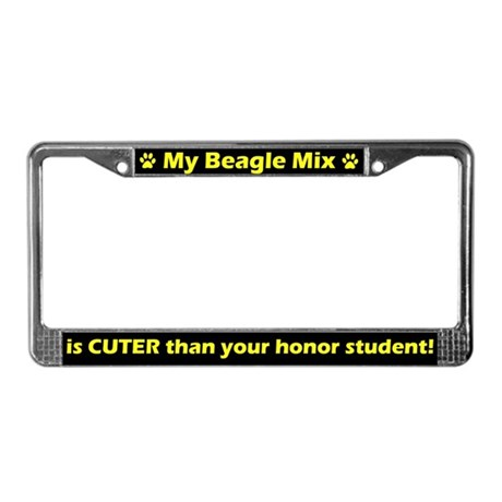 Honor Student Beagle Mix License Plate Frame