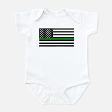 U.S. Flag: The Thin Green Line Infant Bodysuit