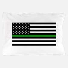 U.S. Flag: The Thin Green Line Pillow Case