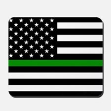 U.S. Flag: The Thin Green Line Mousepad