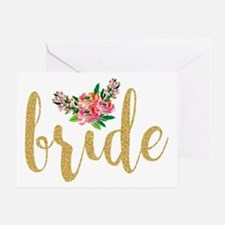 Unique Bride to be Greeting Card