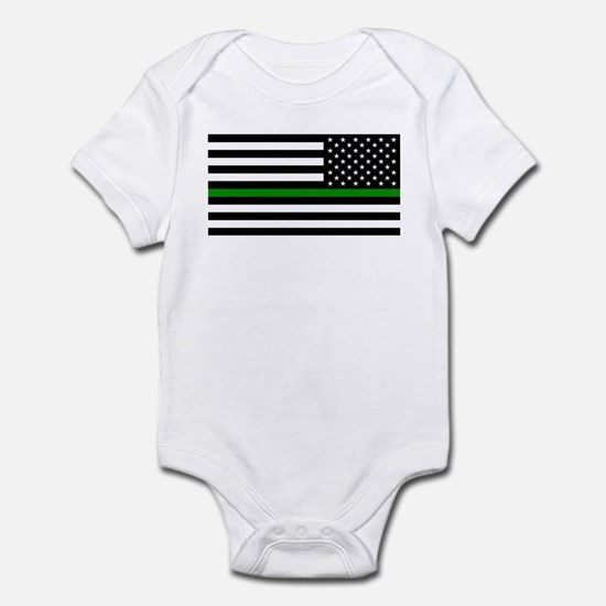 U.S. Flag: The Thin Green Line (Re Infant Bodysuit