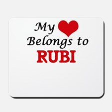 My heart belongs to Rubi Mousepad