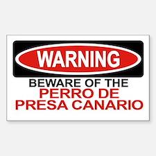 PERRO DE PRESA CANARIO Rectangle Decal
